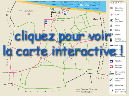 carte toursime colleville th